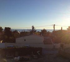 petite vue mer en fin de journee un 25 janvier sous 17 vue depuis la terrasse de l etage