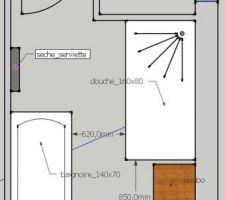 Plan d'aménagement de la salle de bain