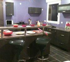 Ma cuisine enfin finie!!!!! avec le plan snack