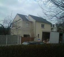 Photo prise par un voisin et ami: ca se termine, la remise des clés est prévue pour le WE prochain...