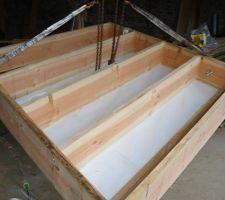Preparation en atelier des elements de toiture.
