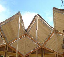 Suite du montage de la toiture.