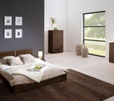 notre futur chambre avec la commade a droite et le lit 160x200
