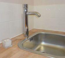 Coin évier de la lingerie, pratique pour le lavage à la main.