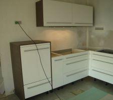 Pose cuisine au 19/03 meuble haut et lave vaisselle