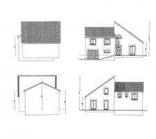 Les 4 vues prévues au permis de construire