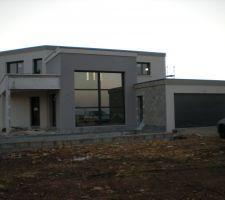 Photos parexlanko g50 gris cendre for Enduit facade parexlanko