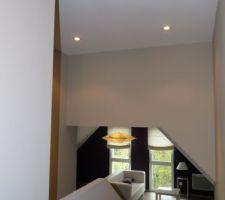 Couloir des chambres vers le 1/2 niveau