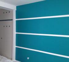 peinture dans notre chambre