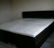 Notre lit installé le 23/04