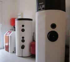 Installation sanitaire : PAC, ballon tampon  et ECS thermodynamique