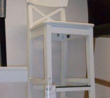 chaise de bar de l ilot de cuisine