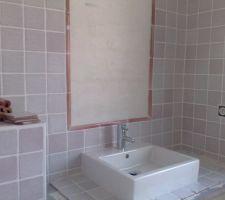 La salle de bains du haut