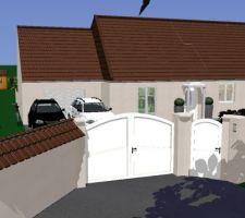 Représentation 3D de notre futur clôture