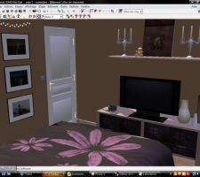 Représentation 3D de notre futur chambre