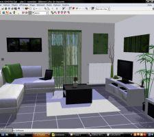 Représentation 3D de notre futur salon