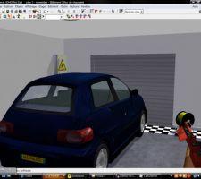 Représentation 3D de notre futur garage