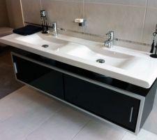 vasque prevue le meuble sera anthracite et sur mesure