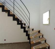 Escalier limon crémaillère de chez MSW Treppen