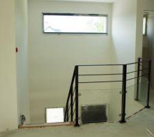 vue de l etage vers la tremie