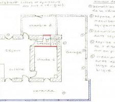 plan maison avant travaux