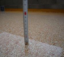 1,5cm d'eau stagnante sur les terrasses