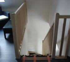 escalier en mode livraison vue de l etage