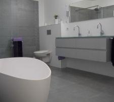 Photos Et Idées Salle De Bain Sol Carrelage Photos - Photo salle de bain carrelage