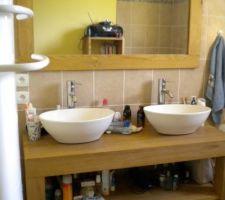 meuble double vasque miroir colonne