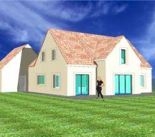 Vue arrière, couleurs des toits et façades devant changer