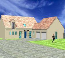Vue avant, couleurs façades et toits devant changer