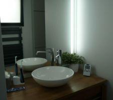 Miroir posé dans salle d eau parentale