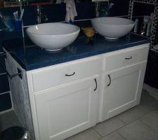 meuble sous vasque en siporex fait maison