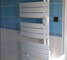 Radiateur sèche serviette de la sdb du rez de chaussée (thermor allure)
