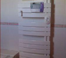 Radiateur sèche serviette   soufflant de la sdb du haut (thermor allure)
