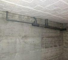 Canalisations en sous-sol.