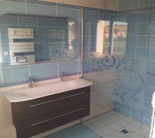 Salle de bain RDC avec mobilier posé