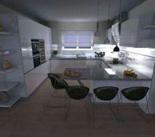 futur cuisine laquee et plan de travail en quartz