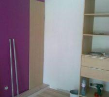 la chambre de mon autre fille et montage du placard