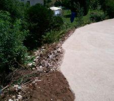 voila pour le terrassier le chemin d'acces est finis mur !