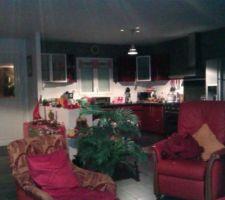 vue de la cuisine a partir du salon