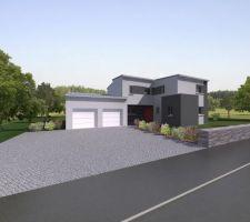 Image 3D de la maison : vue avant