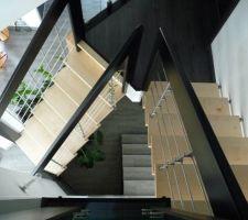 cage escalier vue vers le bas