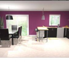 Voici une simulation de cuisine sur le BUT3D Il n'y aura qu'un mur violet en réalité :)