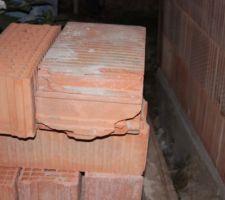 stock de briques de premier choix