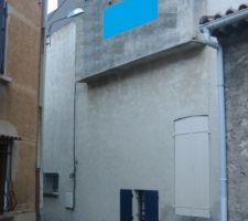 montee du mur au r 2 et acrotere sur toit terrasse