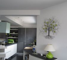 Nouvelle déco entre cuisine et salle à manger