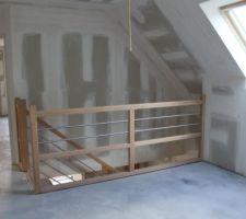 Il manque le verre car ce n'est pas le bon escalier ==> installation stoppée ...