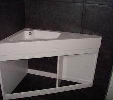 lave main et meuble powell de chez casto reste a placer la robinetterie et on pourra mettre la porte coulissante et le fond du meuble il passe parfaitement dans nos wc du rdc et en plus ca fait un peu de rangement