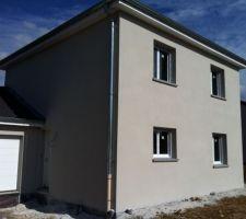R parations la maison peinture facade gris perle - Maison gris perle ...